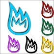 Fire flames iconset