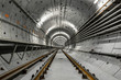 Leinwandbild Motiv Deep metro tunnel