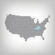 Kentucky in USA Karte punktiert