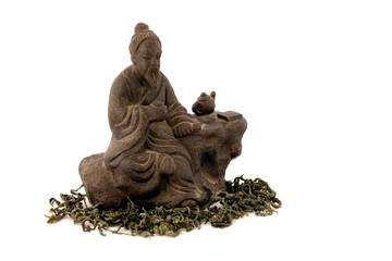 Tea master small statuette