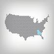 Georgia in USA Karte punktiert