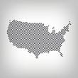 Delaware in USA Karte punktiert