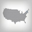 Massachusetts in USA Karte punktiert