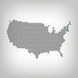 Vermont in USA Karte punktiert