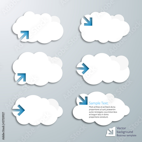 Infographics Cloud balloon Arrow Label