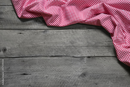 Wooden christmas or Country Style background red chequered