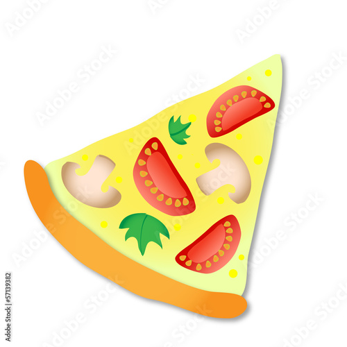vector slice of pizza