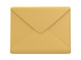 Blank mail envelope over white background