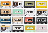 Fototapety music audio tape vintage