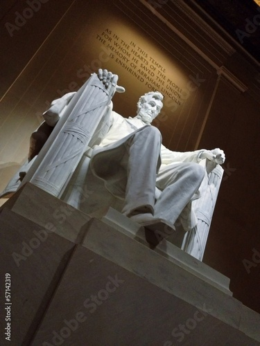 President Lincoln Memorial Washington DC USA