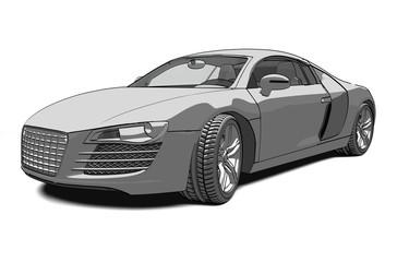 Konzeptzeichnung Auto