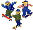 スケードボード クマ