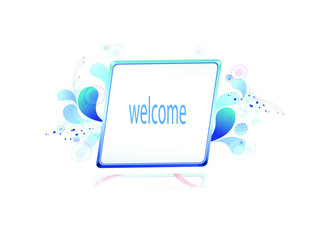 bulletin board and welcome posts