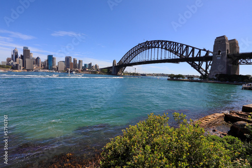 Sydney Harbour Bridge and City