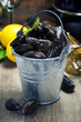 Fresh  mussels ready for cooking