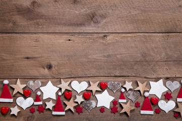 Weihnachtlicher Hintergrund mit Holz klassisch