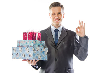 young and handsome man with a gift