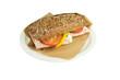 Luxury brown ciabatta sandwich.