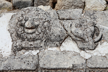 The Lion Figure in Arycanda Ancient City in Antalya, Turkey.