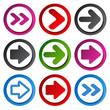 Vector color arrow  - circular buttons
