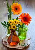 bouquet of chrysanthemum and gerbera