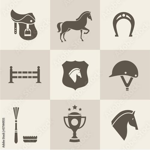 Fototapeta Horse icons