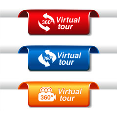 Vector labels for virtual tour