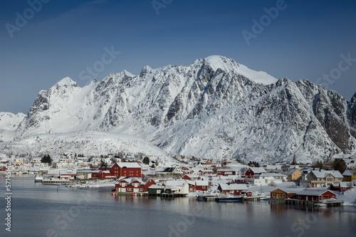 lofoten island during winter time - 57145142