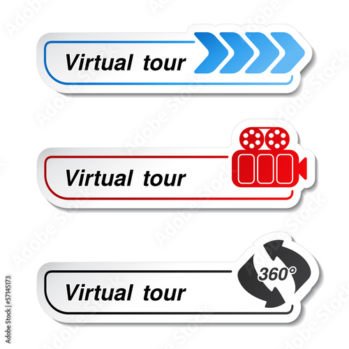 Vector labels - stickers for virtual tour