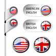 Vector language pointers, flag - American and British English