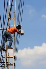 Installation of CCTV.