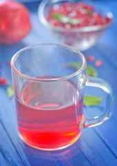 pomegranate and juice