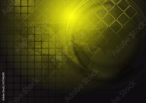 Yellow hi-tech vector background