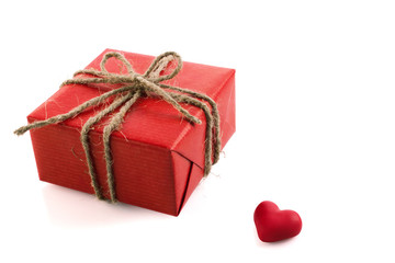red box with heart