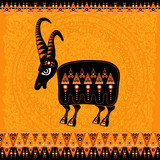 aboriginal art - figure of scapegoat (sacred goat)
