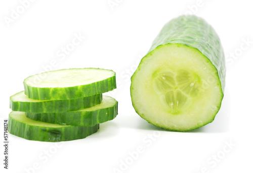 Isolated Cucumber