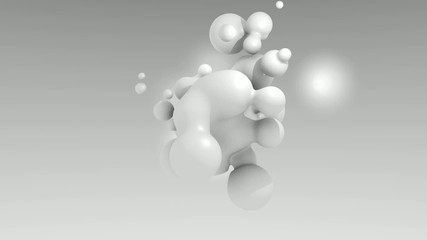 3D ANIMATED WHITE PARTICULES