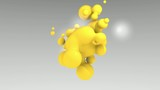 3D ANIMATED YELLOW PARTICULES