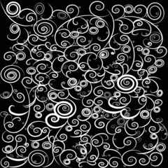 Stylish and trendy vintage curly abstract background 2