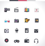 Vector multimedia icon set