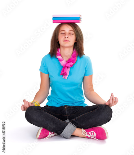 Girl exercising Yoga