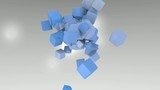 3D ANIMATED BLEU CUBES