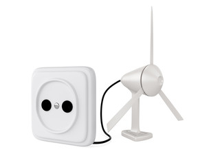 wind turbine and socket