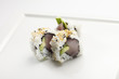 Sushi uramaki inside out roll with tuna