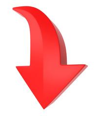 3D down arrow mark