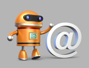 Robot and e-mail system concept