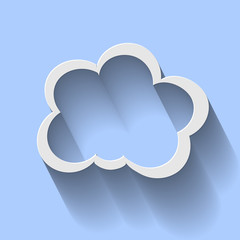 Icon Cloud Computing  Long Shadow
