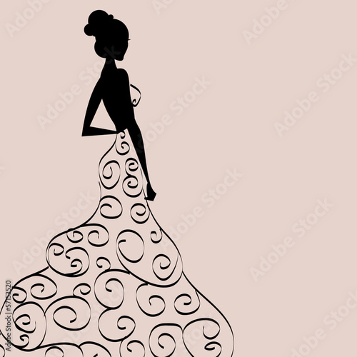 girl in dress pattern