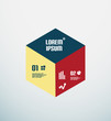 Modern geometrical infographic template