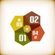 Modern geometrical infographic template